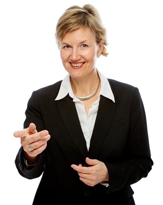 Rhetorik-Trainierin Dr. Hilde Malcomess