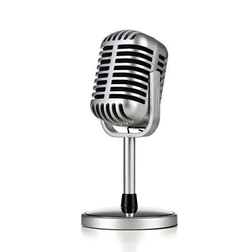 Silberfarbenes Mikrofon